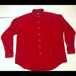Ralph Lauren Men's Size Large Corduroy Blake Shirt
